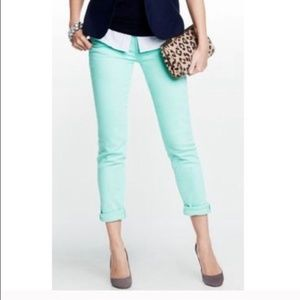 J. Crew Toothpick stretch ankle jeans